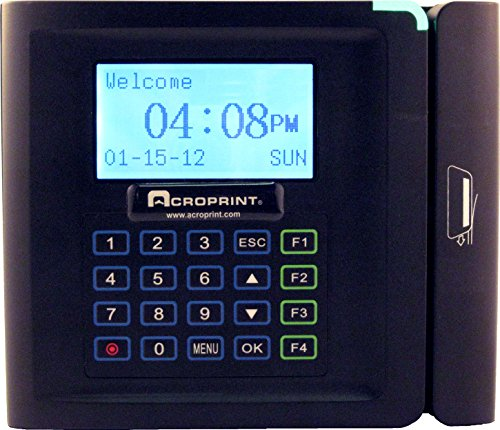 Acroprint timeQplus Magnetic Stripe Time and Attendance System Time Clock (Employee Pin Time Clock Entry)