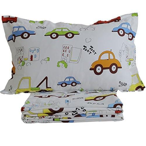 855e048a34cc Brandream Kids Boys Cars Vehicles Bed Sheet Set Cotton Sheets Set 4pcs Queen  Size lovely