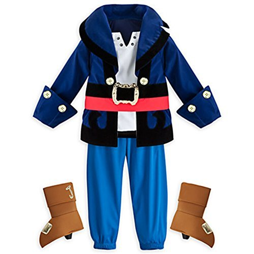 Disney Store Little Boys Jake & the Neverland Pirates Captain Costume Multi 3T (Jake And The Neverland Pirate Boots)