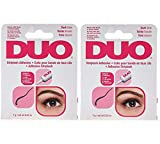 Duo Water Proof Eyelash Adhesive, Dark Tone 1/4 oz - 2 Pack (6 Pinkleaf Greeting Cards Included)