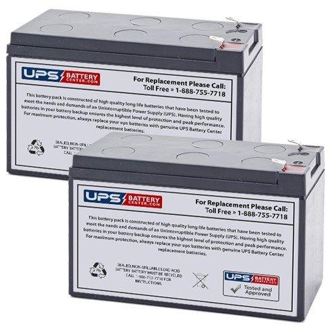 UPSBatteryCenter Compatible replacement for Tripplite RBC24-SLT (2x 12V 7.2Ah (Slt Stock)