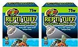 heat lamp bulb turtle - Zoo Med (2 Pack) Repti Tuff Splashproof Halogen Lamps 75 Watts