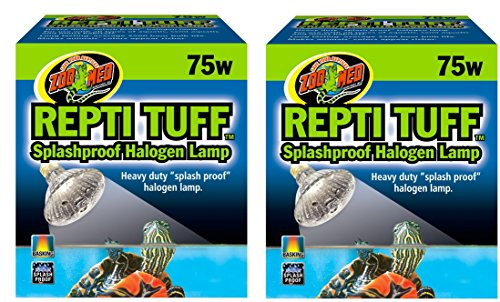 (2 Pack) Zoo Med Repti Tuff Splashproof Halogen Lamps 75 Watts by Zoo Med