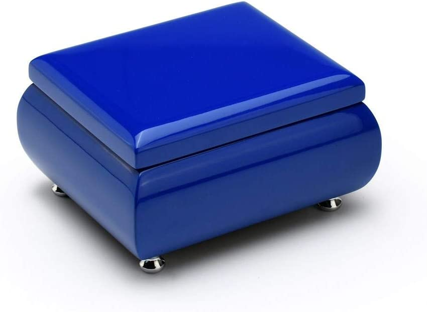 High Gloss Navy Blue 18 Note Musical Jewelry Box Keepsake - Many Songs to Choose - Hark! The Herald Angels Sing