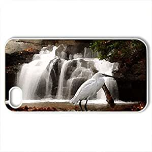 All Is Calm - Case Cover for iPhone 4 and 4s (Waterfalls Series, Watercolor style, White)