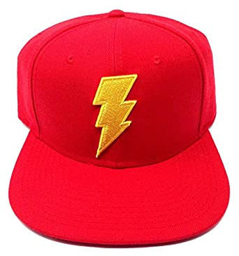080a6e1f992 Image Unavailable. Image not available for. Color  Shazam DC Comics Red 3D  Embroidered Logo Snapback
