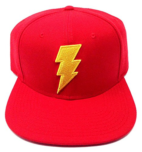 Shazam DC Comics Red 3D Embroidered Logo Snapback