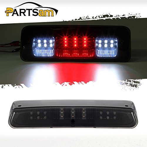 Partsam Third Brake Light Replacement for Ford F-150 F150 2004-2008 04 05 06 07 08 Smoke Lens Red/White LED Rear High Mount Third 3RD Brake Stop Tail Cargo Roof Light Lamp