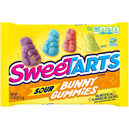 SweeTARTS Sour Bunny Gummy Candy, No Artificial Flavors or Colors, 11-Ounce Bag (Pack of 3) -