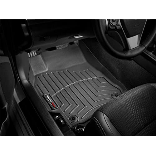Ford Edge Black Weathertech Floor Liner Full Set With Dual Floor Posts