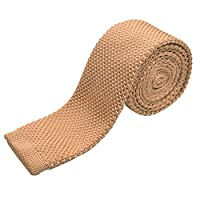 "Alizeebridal Vintage Knit Tie For Groom 2"" Skinny Casual Designed Necktie"
