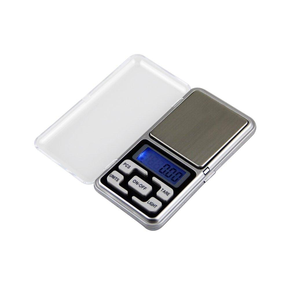 BESTOMZ Bilancia tascabile - Bilancia tascabile digitale portatile Elite da 200 g X 0.01g, Bilancia multiuso multiuso utilizzabile come bilancia per gioielli