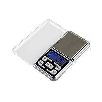 UEETEK Báscula de Bolsillo 0.01g/200g Mini Báscula Digital Escala Balanza de Precisión para