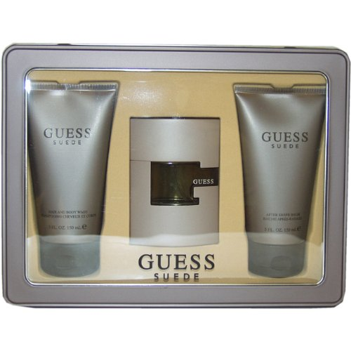 Guess Suede Men Eau-de-toilette Spray, Hair and Body Wash, After Shave Balm by Guess