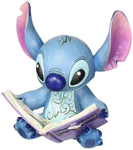 "Disney Traditions by Jim Shore ""Lilo and Stitch"" Stitch with a Storybook Stone Resin Figurine, 5.75"" (Gift Stitch)"