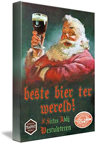 Imagekind Wall Art Print Entitled Westy 12 Westvleteren with Santa by R Christopher Vest | 23 x 32 (Westvleteren Best Beer In The World)