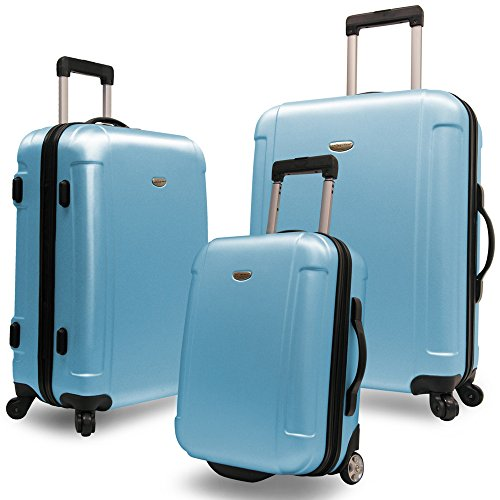 Traveler's Choice Freedom 3 Pc Spinning Travel Luggage Set in Arctic (Spinning Travel Bearings)