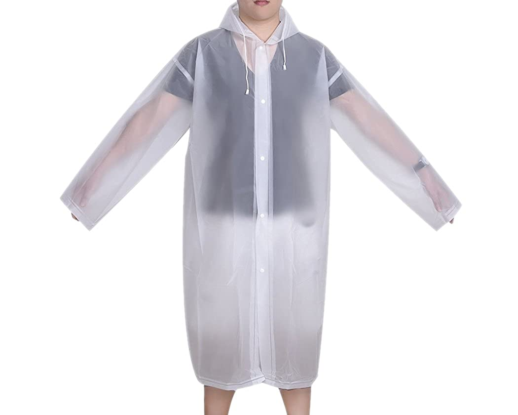Regenmantel Frauen M/änner Regen Mantel Cape Eva Regen Mantel best/ändig Wind und Regen Poncho Wiederverwendbare tragbare Wasserdichte Regenjacke