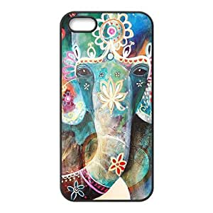 Colorful flowers elephant Cell Phone Case for Iphone 5s