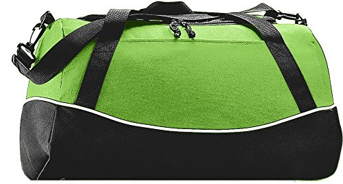 Augusta Sportswear Tri-color Sport Bag OS Lime/Black/White