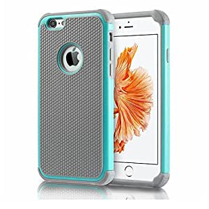 """Gogoing 11case-ch Impact Resistant Double Layer Shockproof Hard Shell Case for Apple IPhone 6, 4.7"""", Teal"""