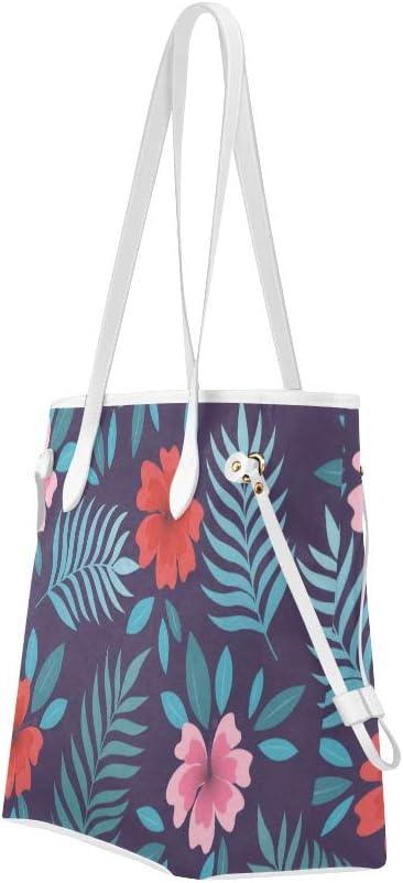 Travel Handbag Abstract Simple Flowers Handbag Travel Work Handbag Large Capacity Water Resistant with Durable Handle