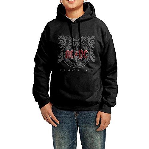 Don Hoody - Teenager ACDC Back In Black Black Ice Logo Hoodie Boys Girls