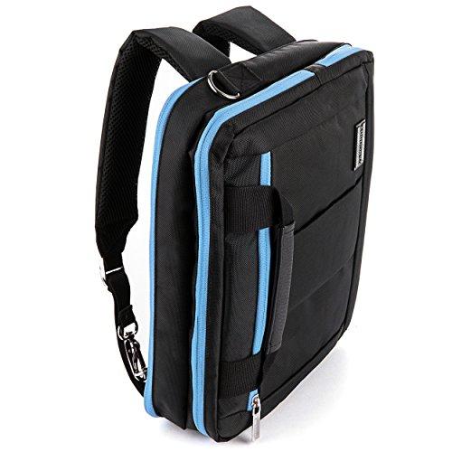 """Alyx Backpack Messenger Shoulder Carrying Case For HP 10.1"""" Tablets (Pavilion X2, 10 Plus, Slate, ProPad -  Vangoddy, 8907198659619"""