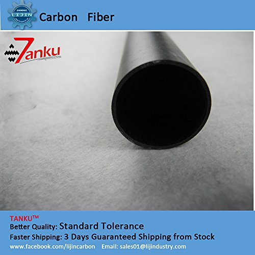 (OD)25mm 23mm(ID) 1000mm Matte surface Carbon Fiber Tube for rolling - Matte 23 Mm