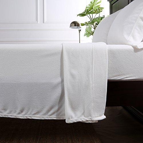Berkshire Blanket Original Microfleece Set Fleece Sheets, King, Cream ()