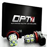 OPT7 Show Glow H10 LED Fog Light Bulbs - 13-SMD 10000K Deep Blue @ 190Lm per bulb - Plug-n-Play (Pack of 2)