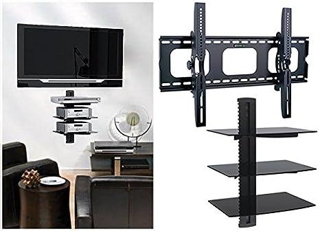 Mensole Da Parete Per Lettore Dvd : Home supporto da parete per tv con ripiano schermi fino a