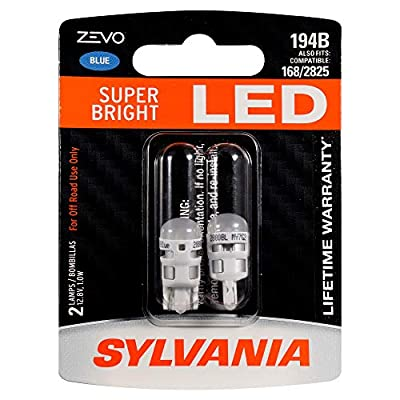 SYLVANIA ZEVO 194 T10 W5W Blue LED Bulb, (Contains 2 bulbs): Home Improvement