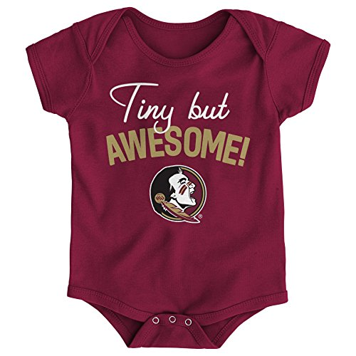 - NCAA Florida State Seminoles Newborn & Infant Awesome Script Bodysuit, 3-6 Months, Garnet