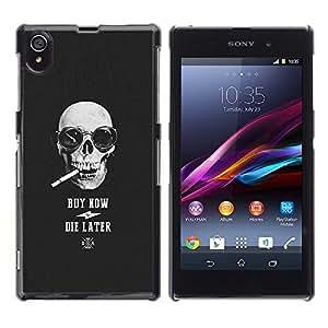 Ihec Tech Compre Ahora Die tarde cráneo fresco Compras / Funda Case back Cover guard / for Sony Xperia Z1 L39