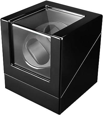 Watch Winder 2+0, Caja giratoria para 2 Relojes automáticos 2 Movimiento, Cargador para Relojes automáticos, en Madera con Acabado Piano (Negro): Amazon.es: Relojes