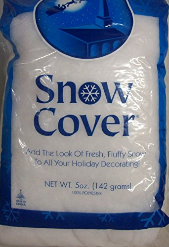 4 Bags Snow Cover 5 ounce Per Bag by Holiday Style