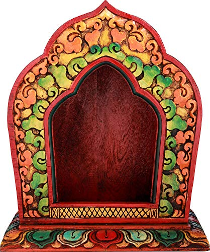 Exotic India Nepal Buddhist Made On Altar Wood Color Tibetan Deity In OUAn1Ur