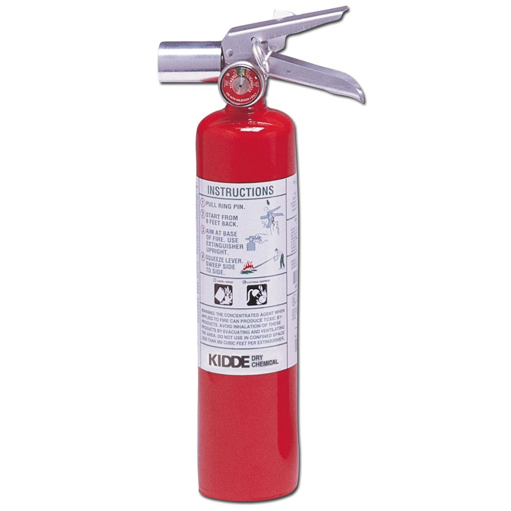Kidde 466727 Halotron Fire Extinguisher, 2-1 2-Pound, 2BC