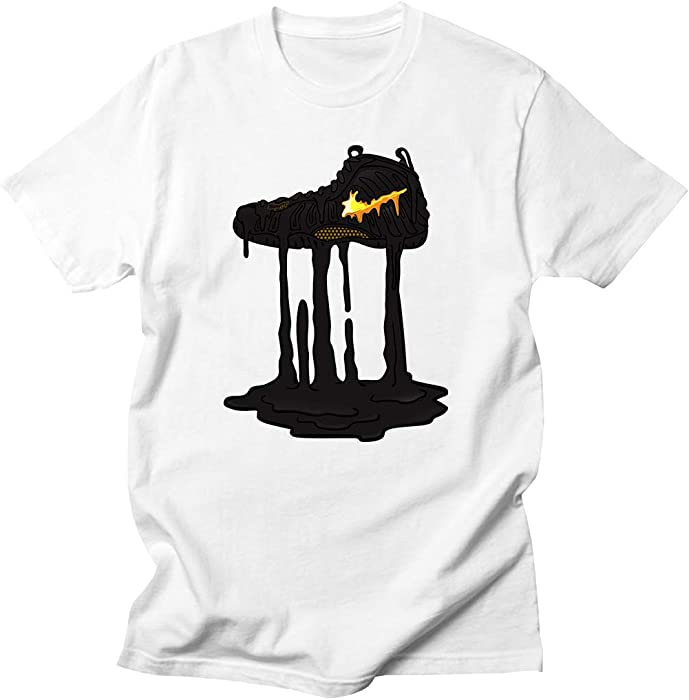 ff5fbf86bceef Custom T Shirt Matching Style of Nike AIR Foamposite PRO Gold Foam 1-23-