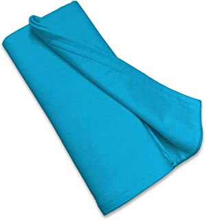 product image for SheetWorld Soft & Stretchy Swaddle Blanket 36 x 36, Turquoise, Made In USA