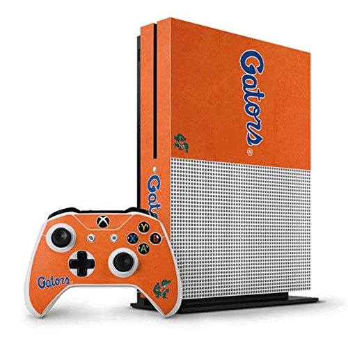 University of Florida Xbox One S Vertical Bundle Skin - Florida Gators Orange Vinyl Decal Skin For Your Xbox One S Vertical Bundle by Skinit
