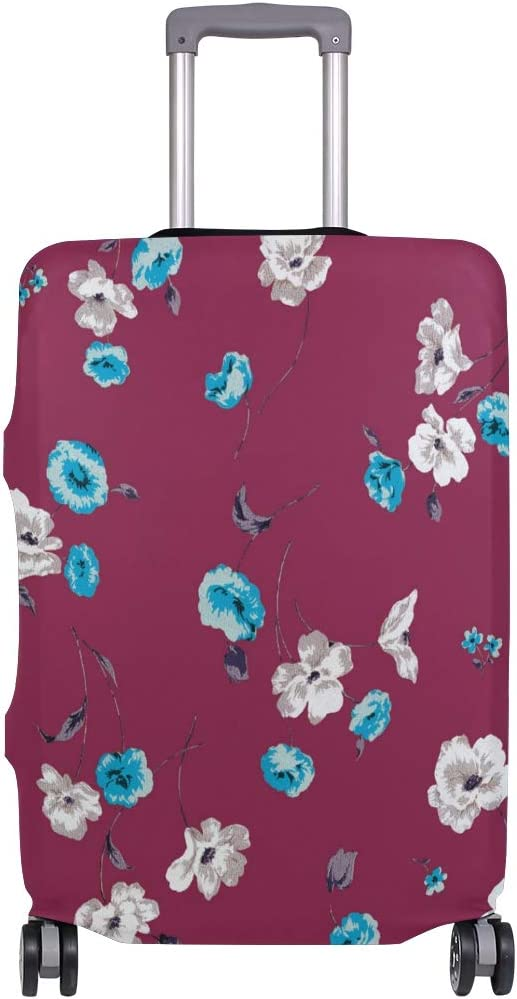 FOLPPLY Floral Print Luggage Cover Baggage Suitcase Travel Protector Fit for 18-32 Inch