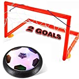 Gloween Kids Toys, Hover Ball Set with 2 Goals, Children Toys Hover Soccer Ball for Boys/Girls Age of 2,3,4,5,6,7,8-18 Years Old, Amazing Sports Ball Toddler Toy with LED Light for Indoor & Outdoor