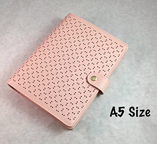 6-ring-leather-journal-refillable-diary-organizer-faux-leather-perforated-a5-a6-size-peach-color-a5