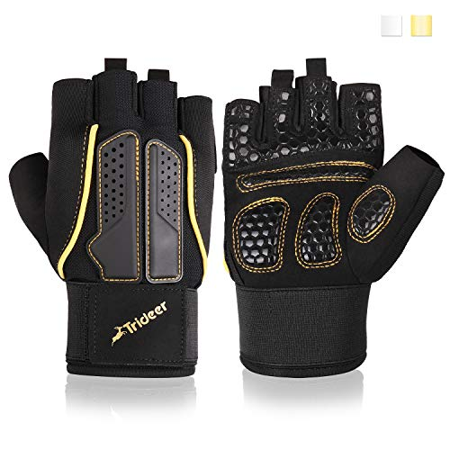 Trideer Padded Weight Lifting Gloves, Gym Gloves,