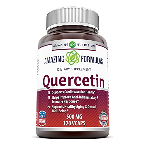 Amazing Formulas - Quercetin 500 Mg * Supports Cardiovascular Health, Helps Improve Anti-Inflammatory & Immune Response, Supports Healthy Ageing And Overall Well-Being * (120)