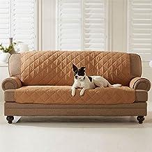 Brylanehome Reversible Slipcovers For Pets - Sofa Protector (Camel Natural,0)