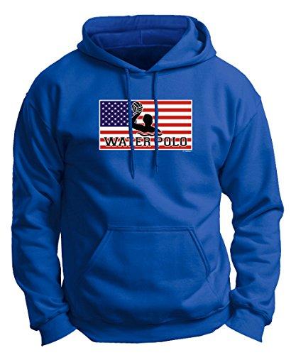 Water Polo Cap American Pride Water Polo Premium Hoodie Sweatshirt Large Royal