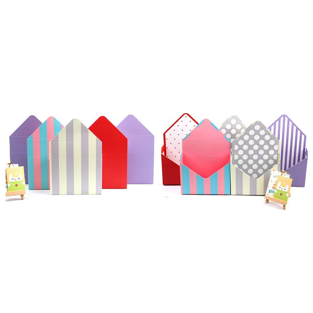 LLLucky Umschlag-Falten-Blumen-Verpackungs-Kasten-Hochzeits-Blumenstrau/ß-Speicher-gedruckte Pappblumen-Verpackenkasten G